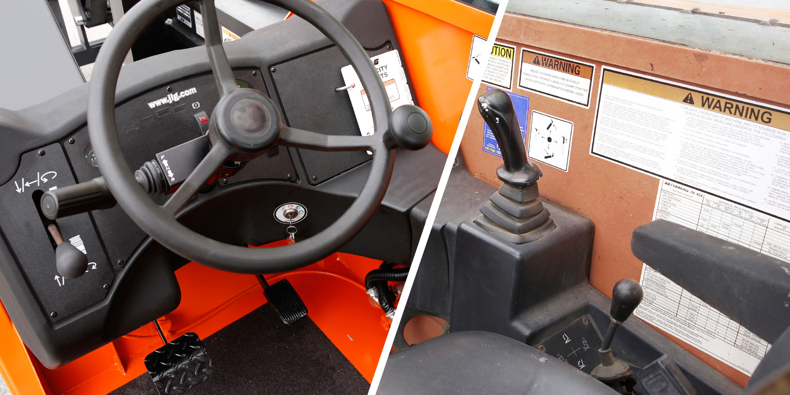 jlg reconditioning telehandler interior before after