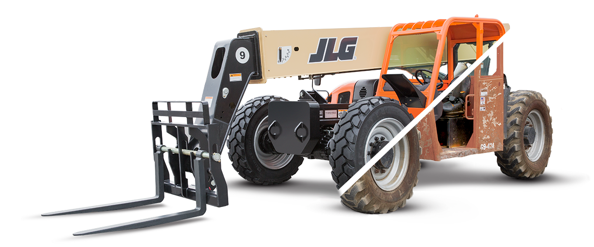 jlg reconditioning telehandler before after