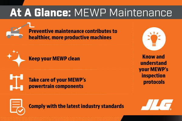 MEWP Maintenance to Lower TCO at a Glance