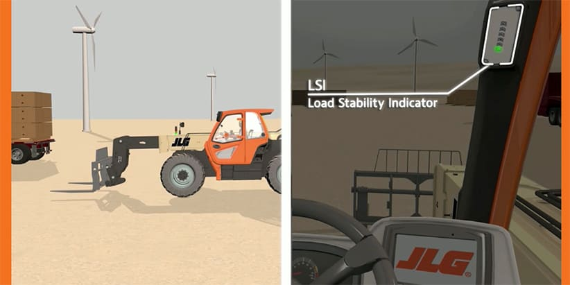 Example of JLG Telehandler Load Stability Indication System