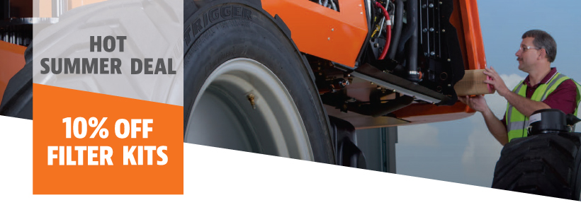 keep your machine in peak operating condition by following a comprehensive  inspection and maintenance program - including routine filter replacement   jlg