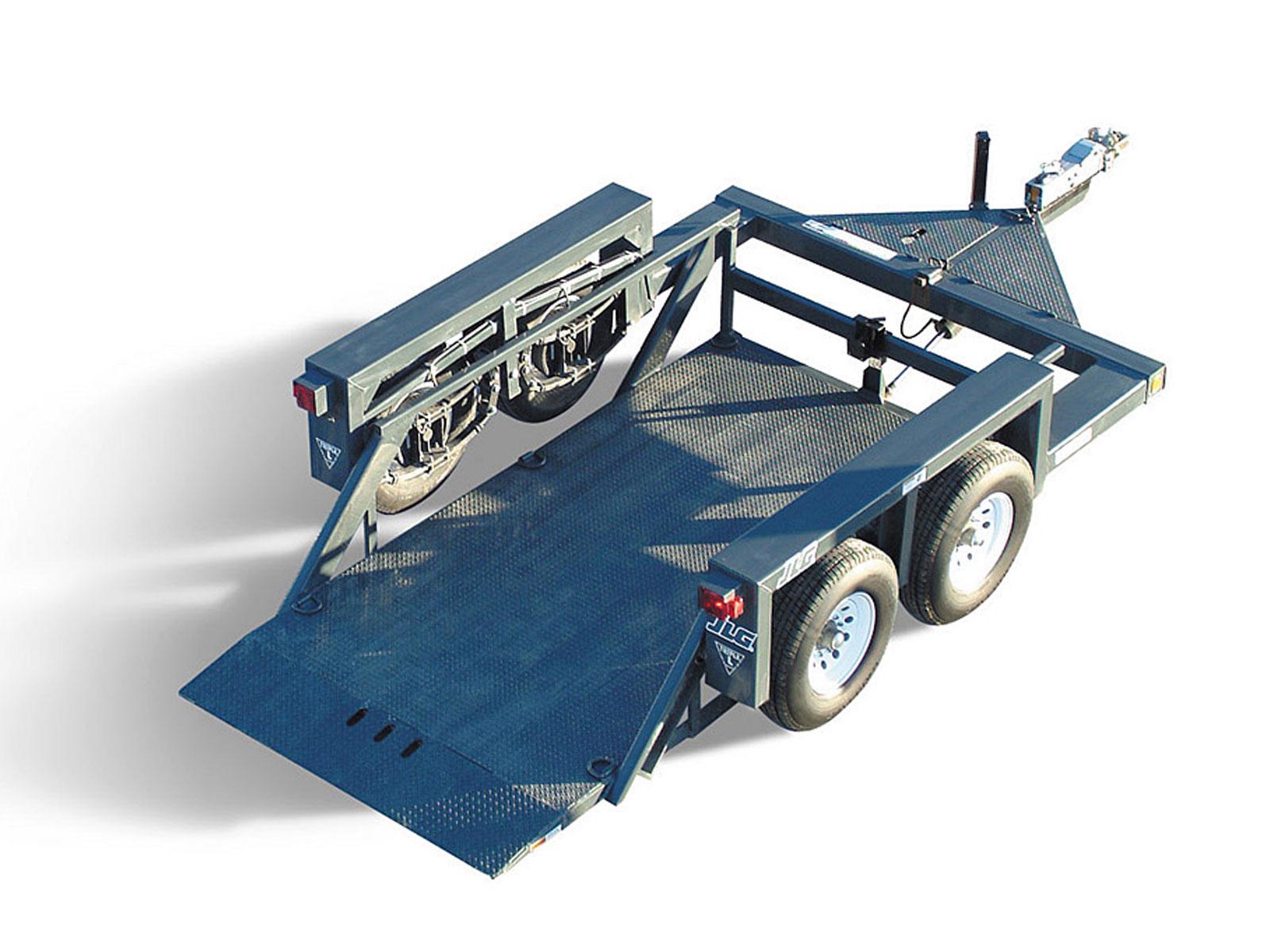 Hydraulic Lift Trailers Sales : Flatbed trailer jlg