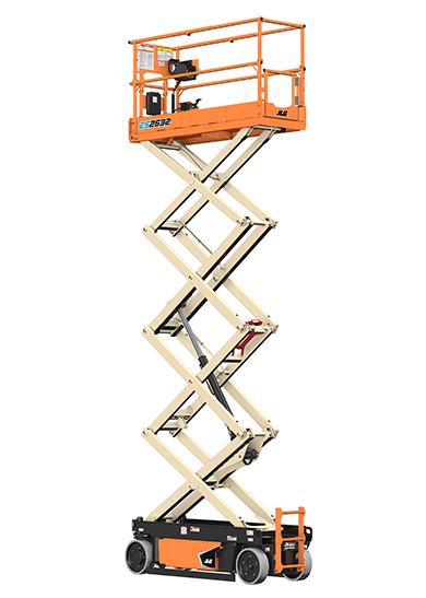 how to turn on a jlg scissor lift