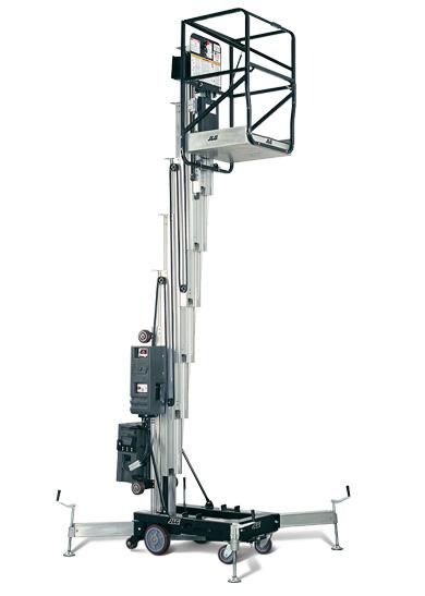 Vertical Lift Parts : Am push around vertical mast lift jlg