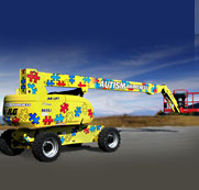 JLG® Boom Lift Raises Autism Awareness